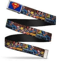 Superman Fcg Blue  Chrome Superman Action Blocks Red Blue Webbing Web Belt