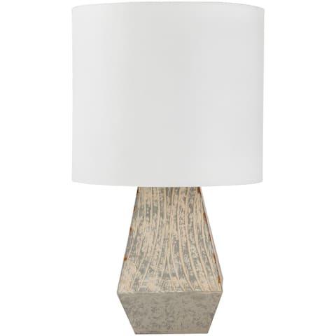 Aviram Grey Distressed Hand Finished Table Lamp