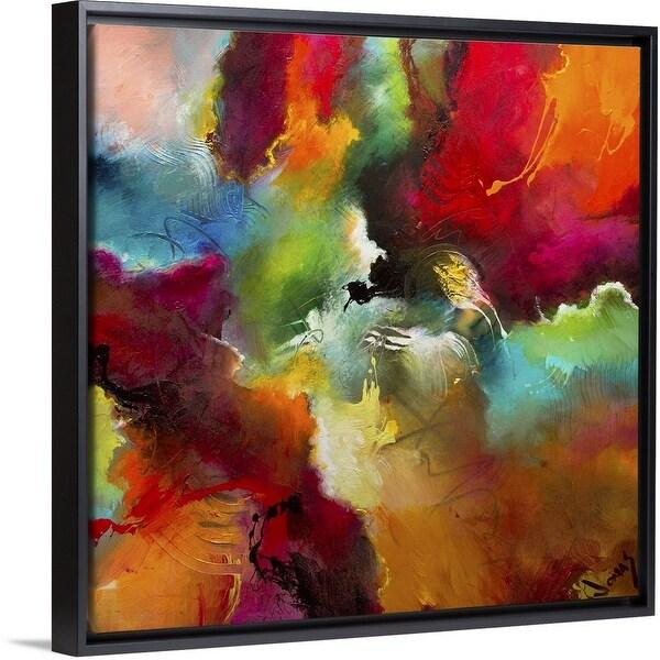 """Cosmic Voyage 197"" Black Float Frame Canvas Art"