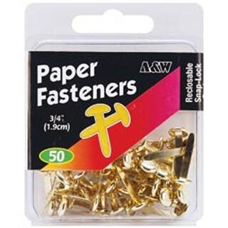"Gold - Paper Fasteners .75"" 50/Pkg"