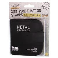 BeadSmith Punctuation Punch Stamp Set, With Canvas Case 3mm, 9 Pieces