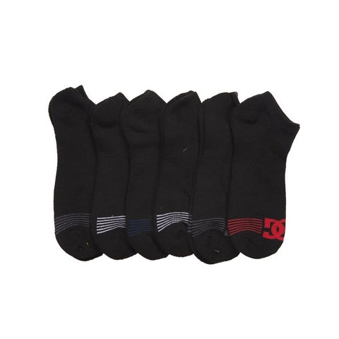 DC 6-Pack Men's Sport No Show Socks Assorted, 10-13 Size