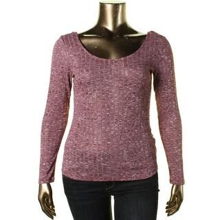 Ultraflirt Womens Juniors Knit Space Dye Ballet Top