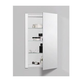 "Robern RC1626D4FP1 R3 16"" x 26"" x 4"" Plain Single Door Medicine Cabinet with Reversible Hinge"