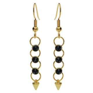 Crystaletts Spike Earrings - Black/Gold - Exclusive Beadaholique Jewelry Kit