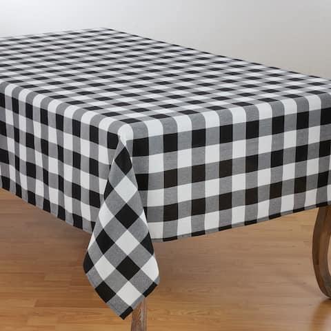 Casual Tablecloth With Buffalo Plaid Design