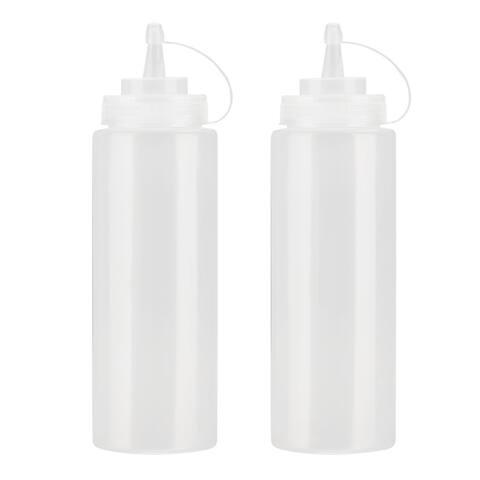 Squeeze Bottle Vinegar Syrub Condiment Dispenser 12oz 2pcs - 360ml/12oz