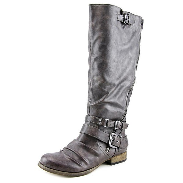 Carlos by Carlos Santana Hanna 2 Wide Calf Round Toe Synthetic Knee High Boot