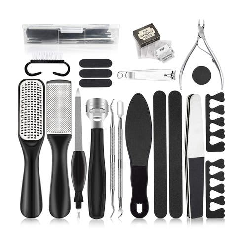 Professional Pedicure Kit 20 In 1, Foot Care File Set For Callus And Dead Skin Remover