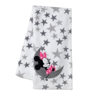 Link to Disney Baby Minnie Mouse Gray/White Fleece Baby Blanket by Lambs & Ivy Similar Items in Baby Blankets