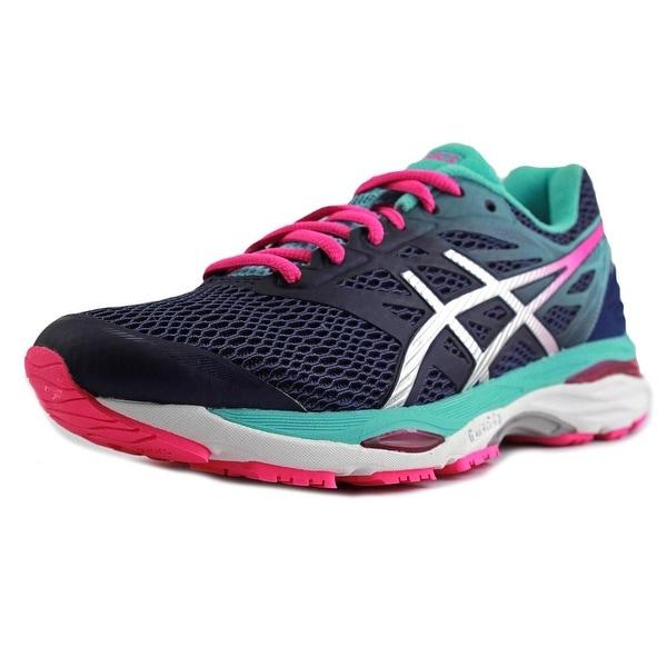 Asics Gel-Cumulus 18 Women Indigo Blue/Silver/Pink Glow Running Shoes