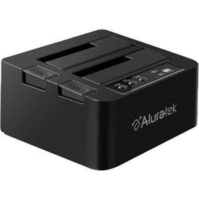 Aluratek External Usb 3.0 Superspeed Dual Bay Sata Hard Drive Duplicator Optical Drives Ahddub300f