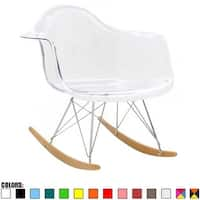 2xhome Modern Rocking Chair Armchair With ArmColorsNatural Wood Rockers Dining