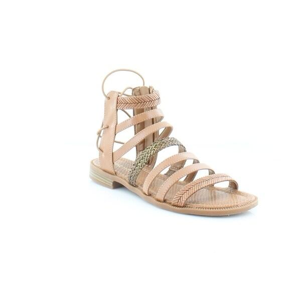 Nine West Xema Women's Sandals & Flip Flops Dark Natural - 6