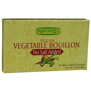 Rapunzel Bouillon Cubes - Vegetable - Vegan - No Salt Added - 2.4 oz - Case of 12
