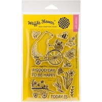 "Waffle Flower Crafts Clear Stamps 4""X6""-Happy Day"
