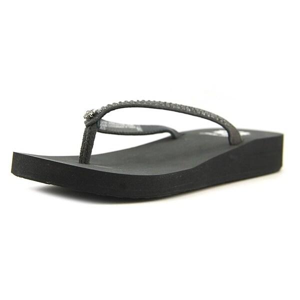Yellow Box Jello Women Open Toe Suede Thong Sandal