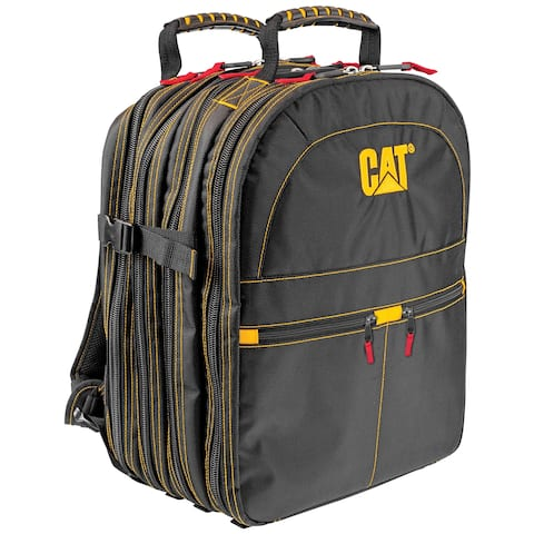 Cat 17 in. Pro Tool Backpack 47 Pockets Heavy Duty 1680D Polyester - 240052