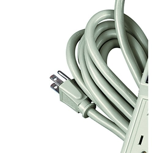 99026 15 Foot Cord Fellowes 6-Outlet Office//Home Power Strip Wall Mountable