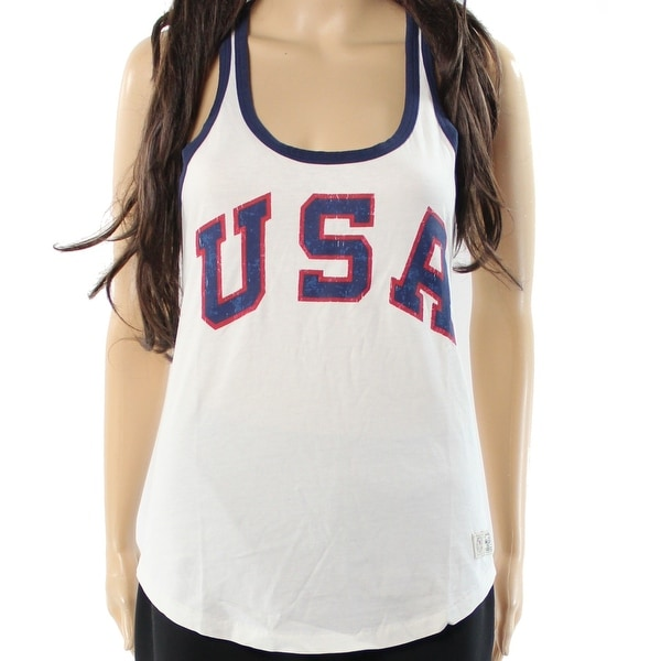aa66301a74226 Shop Polo Ralph Lauren NEW White Women s Size Large L USA Tank Cami Top -  Free Shipping On Orders Over  45 - - 17621559