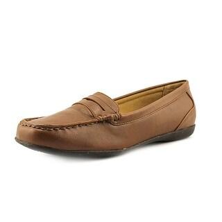 Trotters Francie II Women Apron Toe Leather Tan Loafer