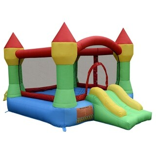 Costway Inflatable Mighty Bounce House Castle Jumper Moonwalk Bouncer Without Blower