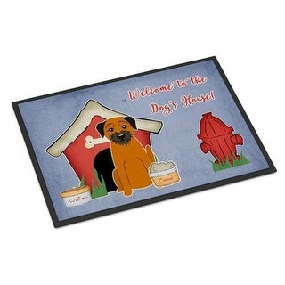 Carolines Treasures BB2793MAT Dog House Collection Border Terrier Indoor or Outdoor Mat 18 x 0.25 x 27 in.
