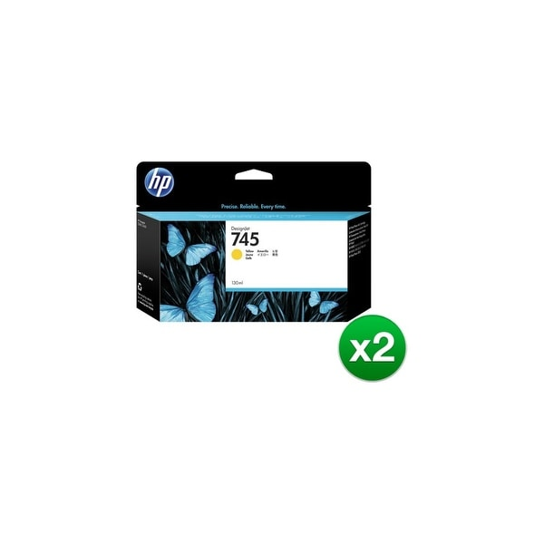 HP 745 130-ml DesignJet Yellow Ink Cartridge (F9J96A)(2-Pack)