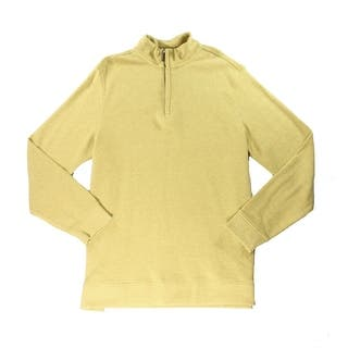 Tasso Elba NEW Yellow Heather Mens Size XL Quarter Zip Sweater Cotton|https://ak1.ostkcdn.com/images/products/is/images/direct/919e185987503b7b2fa55deed0e23e4b88be3c6e/Tasso-Elba-NEW-Yellow-Heather-Mens-Size-XL-Quarter-Zip-Sweater-Cotton.jpg?impolicy=medium