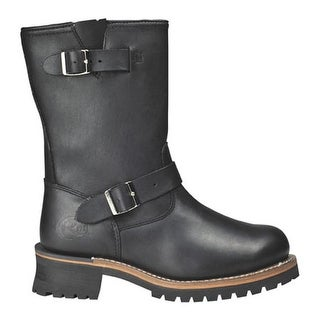 """Roadmate Boot Co. Men's 830 10"""" Engineer Boot Black Oil Full Grain Leather"""