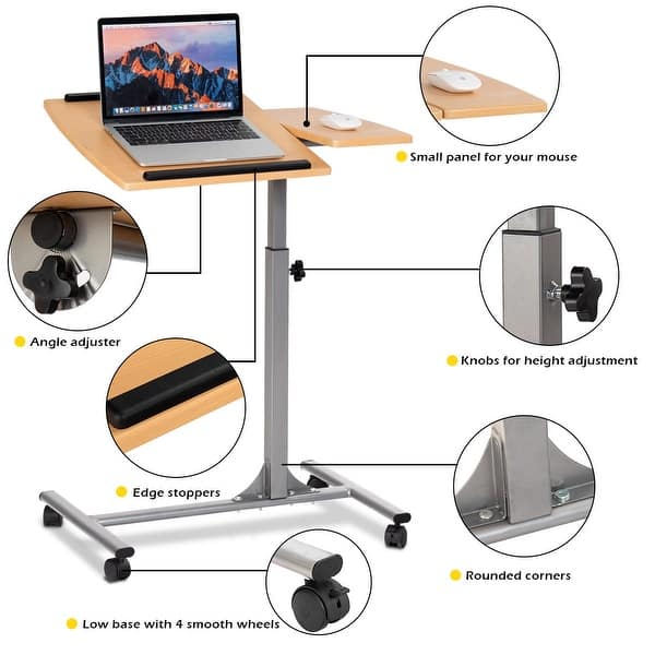 Costway 1pc Adjule Laptop Notebook Desk Table Stand