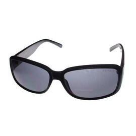 Esprit Sunglass Womens Fashion Plastic Rectangle, Black Smoke Lens 19452 538