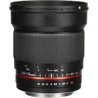 Rokinon 16mm f/2.0 ED AS UMC CS Lens for Canon EF-S Mount - Black