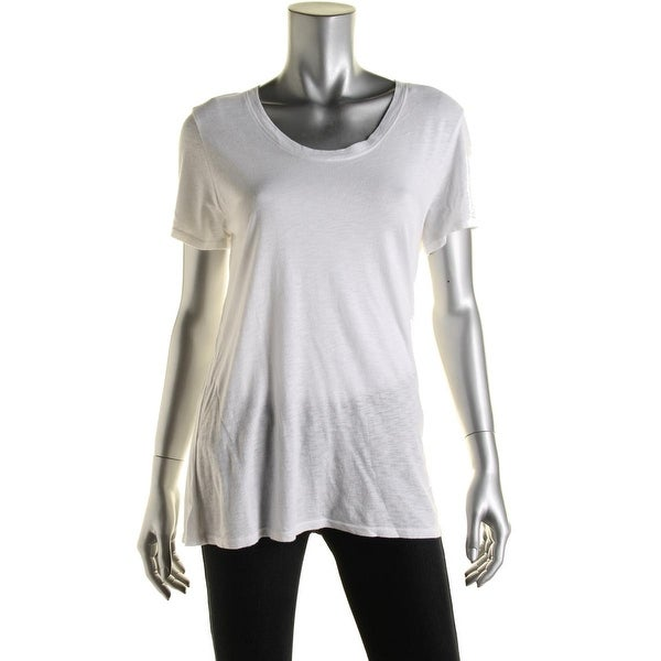 Nation LTD Womens T-Shirt Scoop Neck Slub