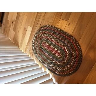 Rhody Rug Charisma Indoor/Outdoor Oval Braided Area Rug (2' x 3')