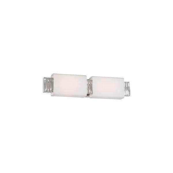 "Modern Forms WS-45522 Aegean 22"" Wide 2-Light LED Bathroom Vanity Light - Polished Nickel - n/a"