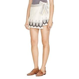 Free People Womens Mini Skirt Denim Embroidered - 12