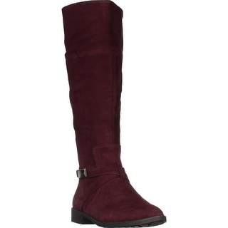 A35 Egila Ankle Strap Zip Riding Boots, Burgundy