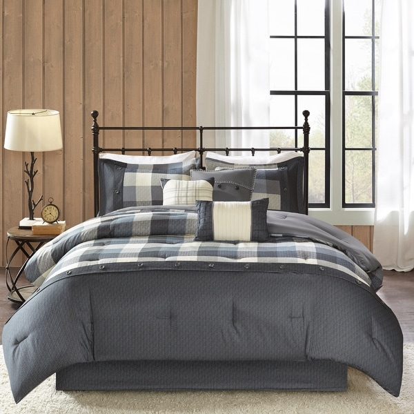 Madison Park Pioneer 7-piece Herringbone Comforter Set
