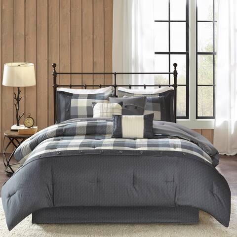 Madison Park Pioneer 7-piece Herringbone Comforter Set