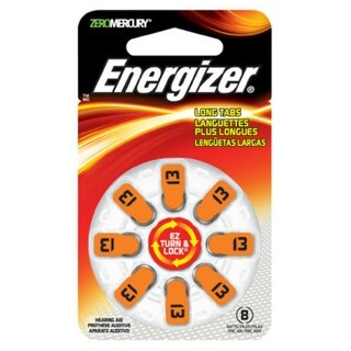 Energizer AZ13DP-8 EZ Turn & Lock Hearing Aid Batteries, 1.4 Volt, 8-Pack