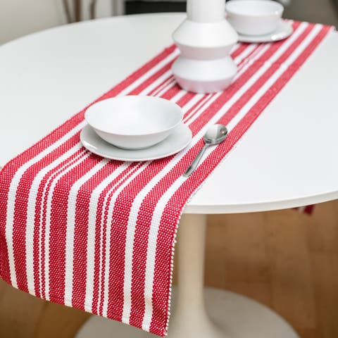 Fabstyles Broadway Stripe Cotton Table Runner - 13x72
