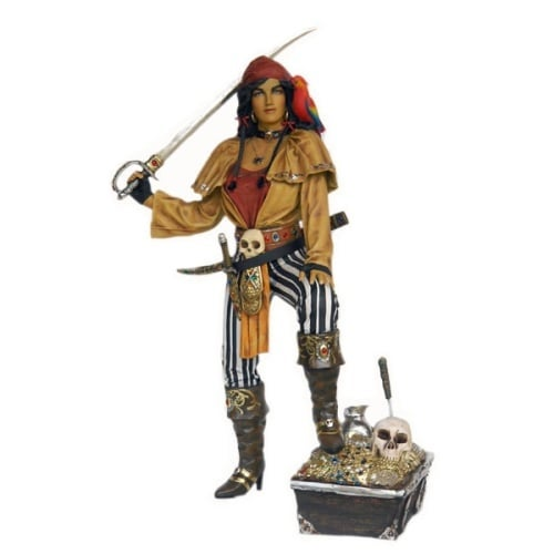Christmas at Winterland WL-PRT-LDY-06 Halloween 6 Foot Tall Lady Pirate Statue