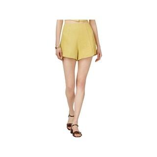 ASTR the Label Womens High-Waist Shorts Textured Pintuck