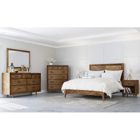 Abbyson Retro Mid Century Wood 6 Piece Bedroom Set
