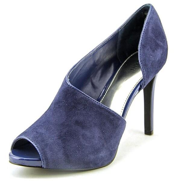 Alfani Lusee Women Peep-Toe Suede Blue Heels