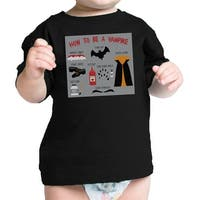 Vampire Steps Black Baby Graphic T-Shirt First Halloween Baby Gifts