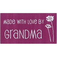 Made With Love By Grandma - Iron-On Lovelabels 4/Pkg