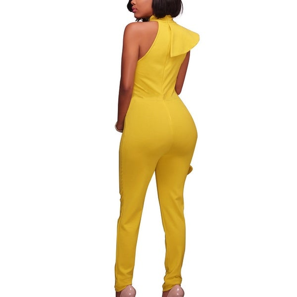 Women's Tights Large Swing Ruffled Sleeveless Sexy Jumpsuit. Opens flyout.