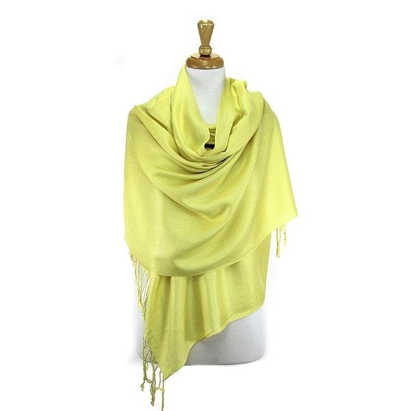 Black Pashmina Silk Scarf Soft Shawl Wrap Solid Color P#10